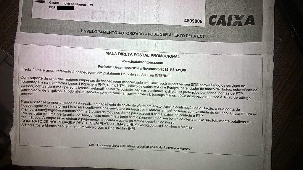 boleto fake registro marcas joatan fontoura