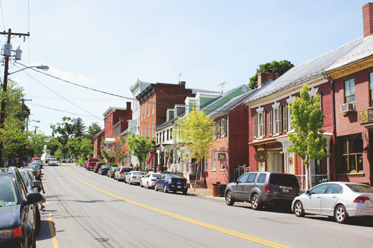 German Street shops in Shepherdstown, West Virginia