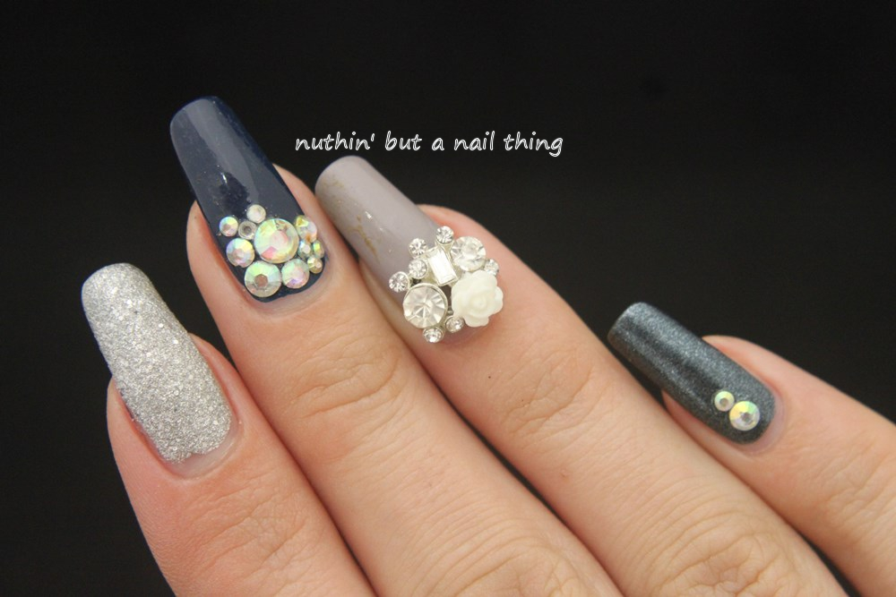 nuthin\' but a nail thing: Easy bling nails