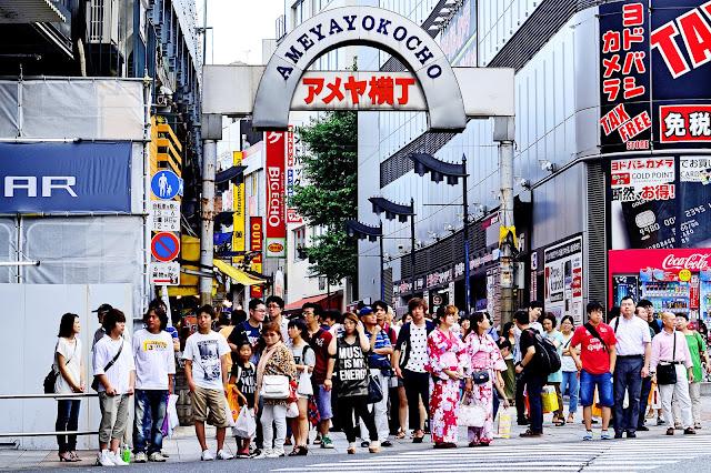 Mercado de Ameyoko en Ueno
