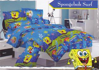 Sprei Love Story Spongebob Surf