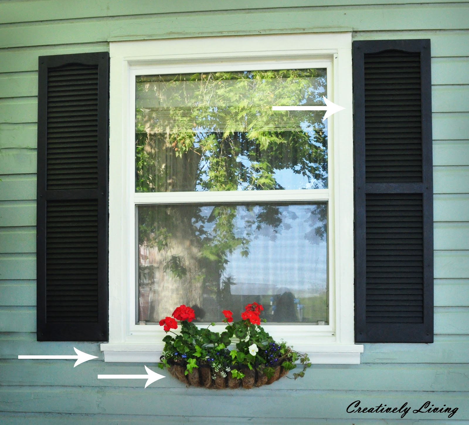Window boxes shutters and some trim Creatively Living Blog