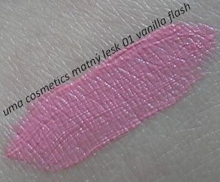 uma cosmetics matný lesk 01 vanilla flash