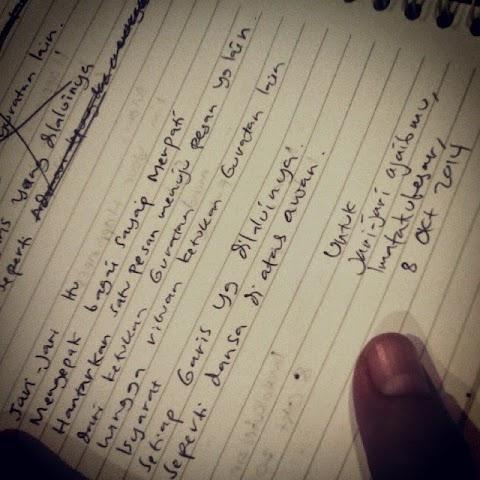 Aku, Tulisan dan Waktu