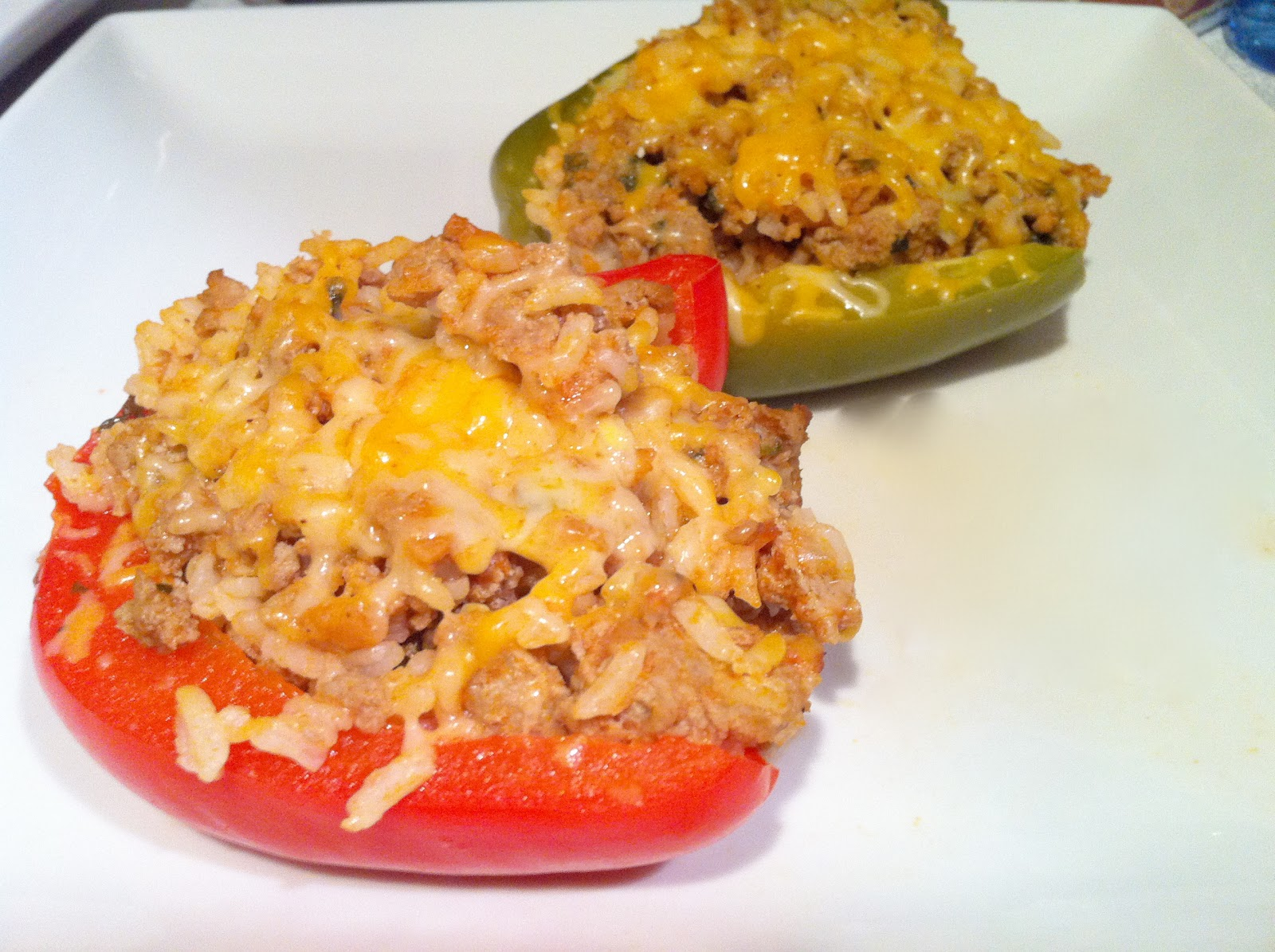 Hem and Her: Turkey Stuffed Peppers
