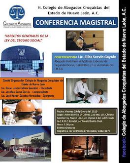 """Conferencia """"ASPECTOS GENERALES DE LA LEY DEL SEGURO SOCIAL"""""""