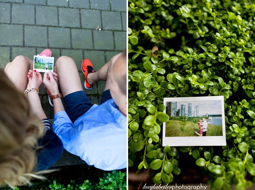 using instax in engagement photo