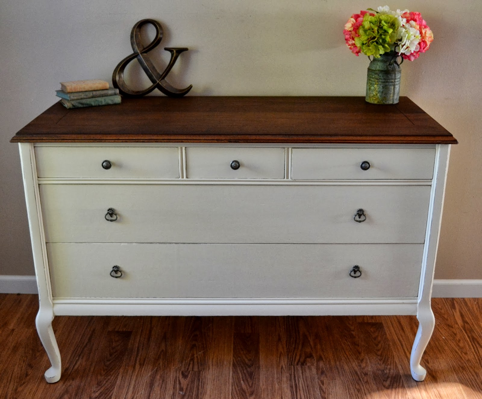 Dresser in navajo white giveaway winner helen nichole designs Cream wooden furniture