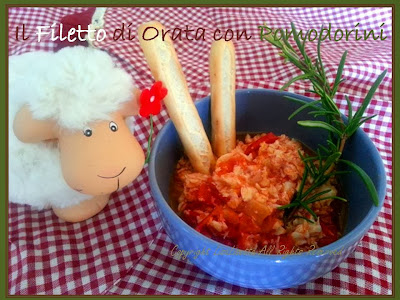 Filetto di Orata con Pomodorini al Profumo di Rosmarino – Ricetta per i Bimbi