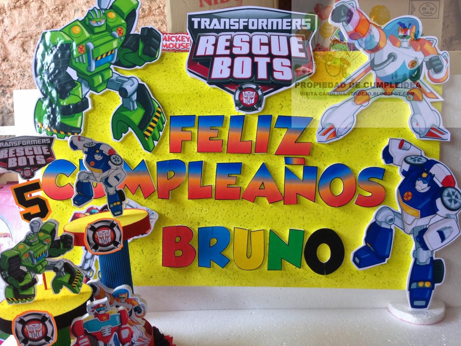 Decoraciones infantiles rescue bot - Decoraciones para cumpleanos infantiles ...