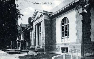 Old Oshawa Public Library, built in 1909, south west corner of Simcoe and Athol Streets. Source: OurOntario.ca
