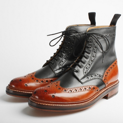 Frosty Mint Grenson Fred Mens Brogue Boot