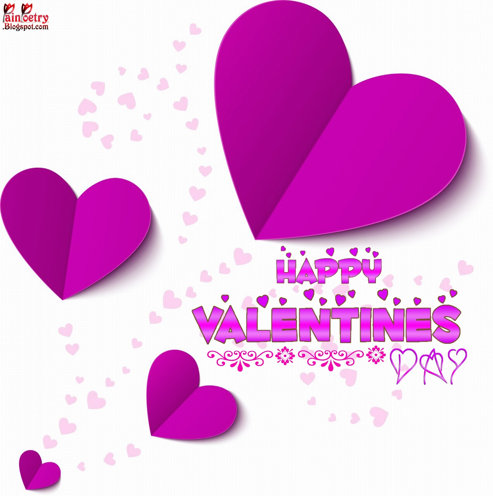 Happy-Valentines-Day-Wishes-Walpaper-With-Pink-Heart