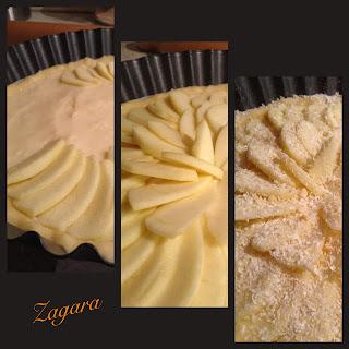 crostata di crema e mele