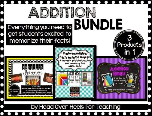 http://www.teacherspayteachers.com/Product/Addition-Bundle-Everything-to-memorize-those-addition-facts-1308607