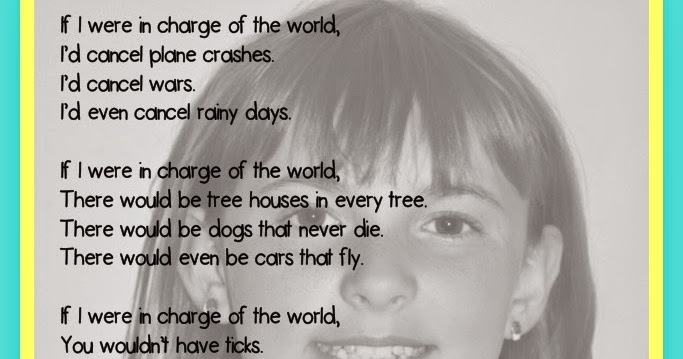 undercover classroom if i were in charge of the world poem free