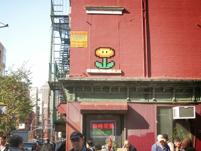 Invader Invades New York City - 2013 Edition - Collaboration With COST and ENX plus solo pieces. 5