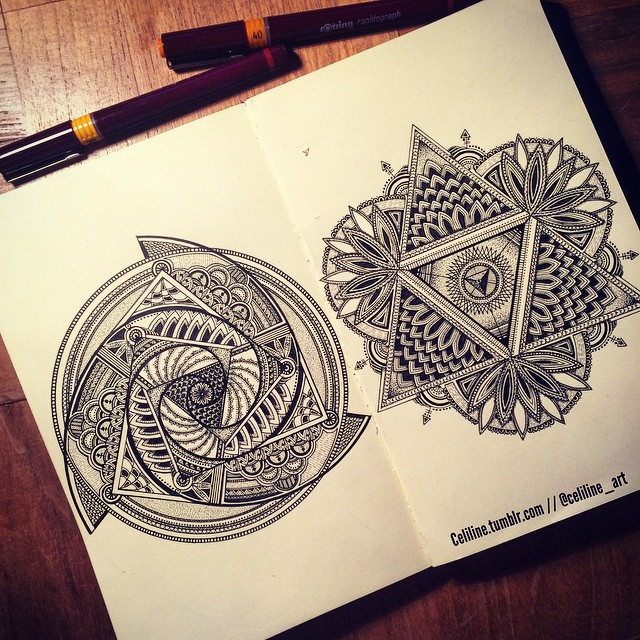 01-Celiline-Hand-Drawn-Zentangle-Doodles-Illustrations-Drawings-www-designstack-co