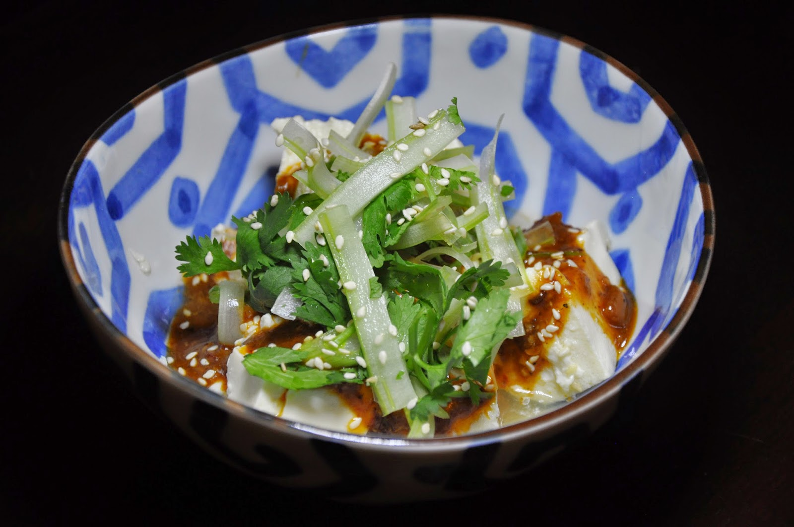 ... Year Meal #4: Spicy Warm Silken Tofu with Celery and Cilantro Salad