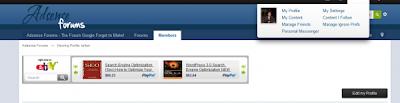 adsense forum user tab