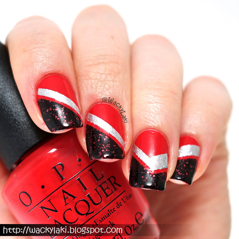 Wacky laki coca cola racing stripes i love when a pattern or design of the nails flows from one nail to the next and i think that i managed achieve that desired flow with this look prinsesfo Gallery