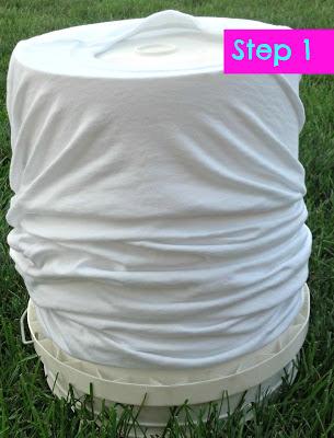 DIY Zebra Striped Painted Shirt