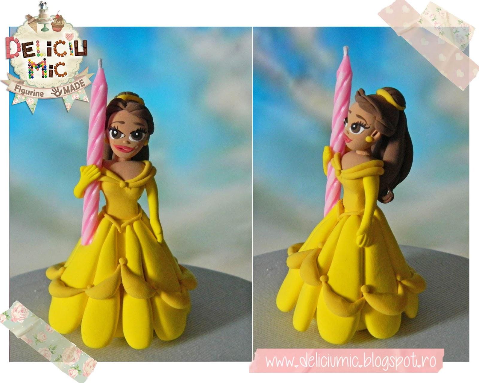 Figurina de tort Belle