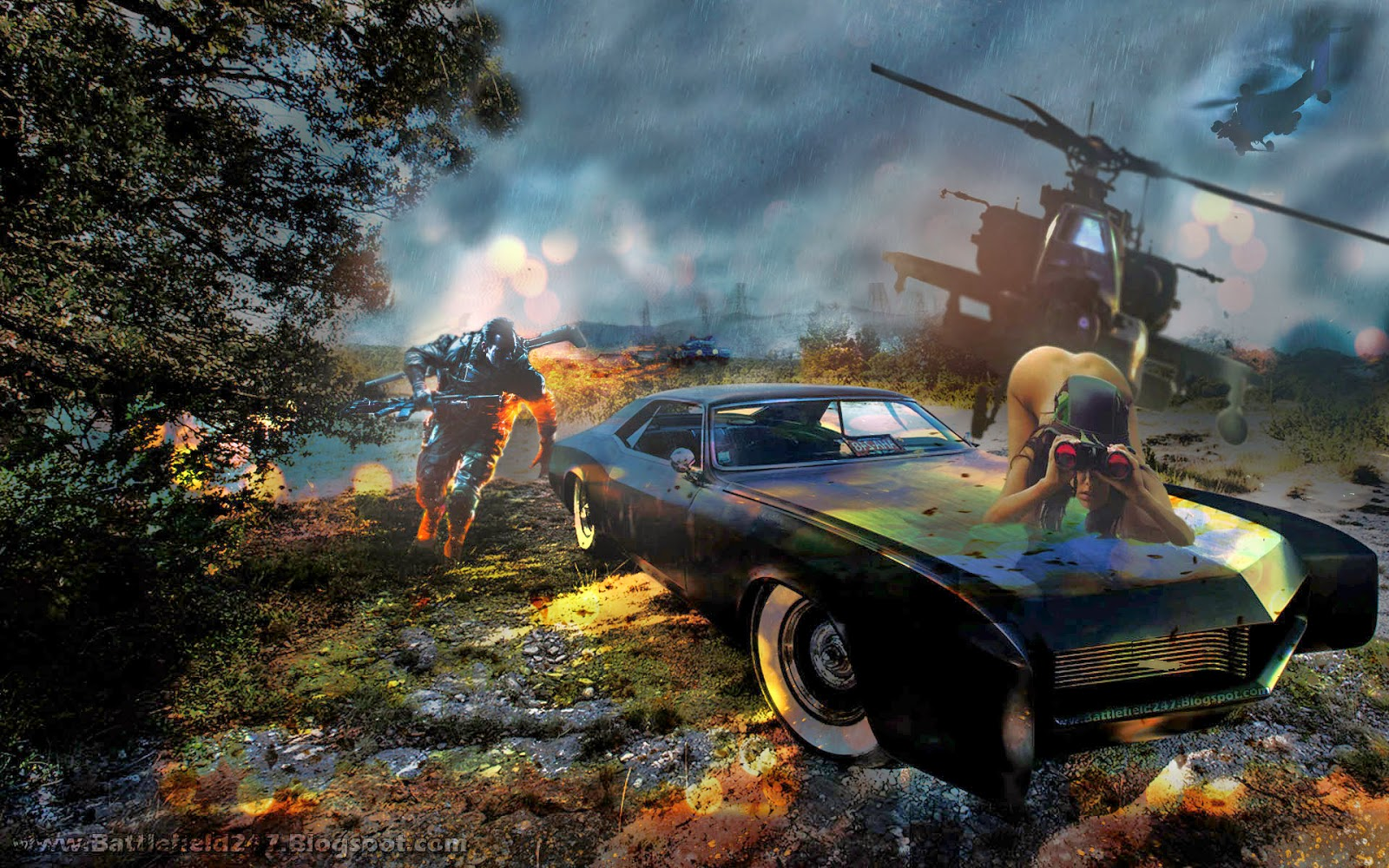 Battlefield 4 Amazing 1966 Buick Riviera Easter Egg Find Babe Background Wallpaper 1920x1200
