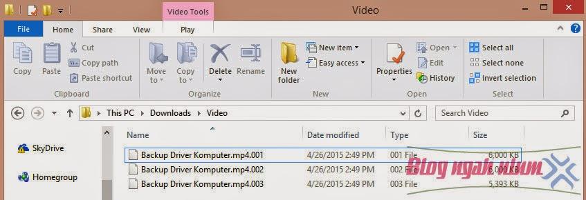 membuka file berextensi .001