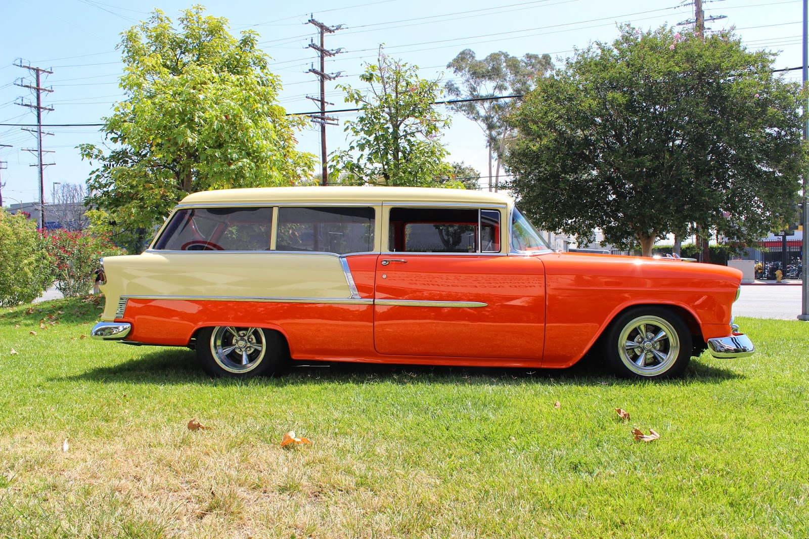 1955 chevrolet handyman 2 door wagon street rod - 1955 Chevy Handyman Wagon From Our August Catalog Cover