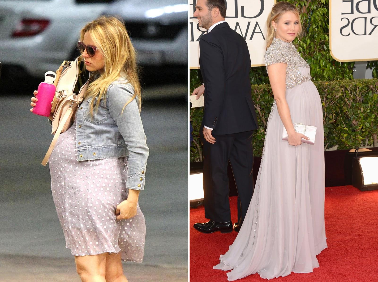 Платья на беременных звездах