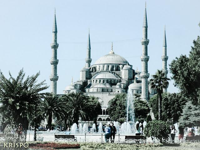 Vista general de la mezquita azul de Estambul