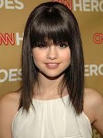 Selena Gomez straight bob cut