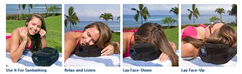 cabeau evolution pillow head positions