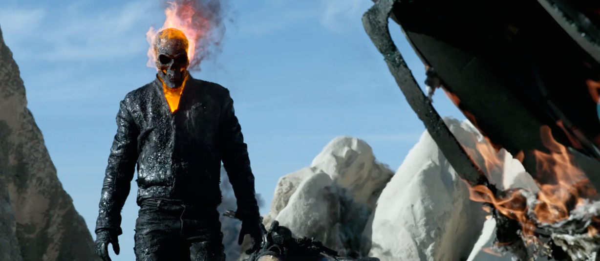 The Voracious Filmgoer: Flame Out: GHOST RIDER: SPIRIT OF ...  Ghost Rider Spirit Of Vengeance Blue Fire