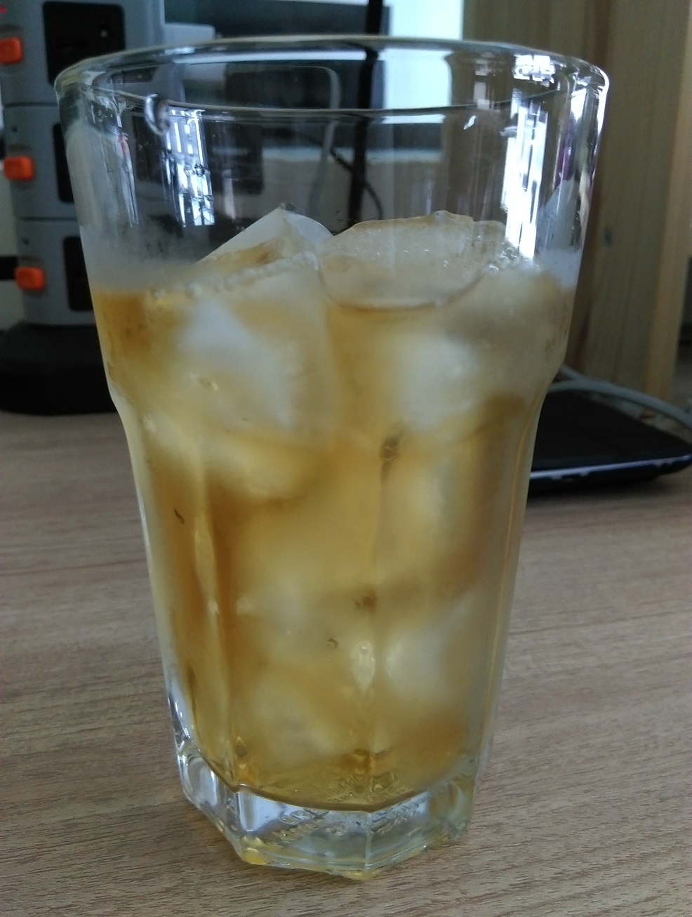 Green tea with ice.