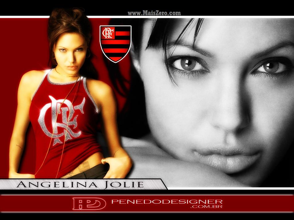 papel de parede do Flamengo - Angelina Jolie