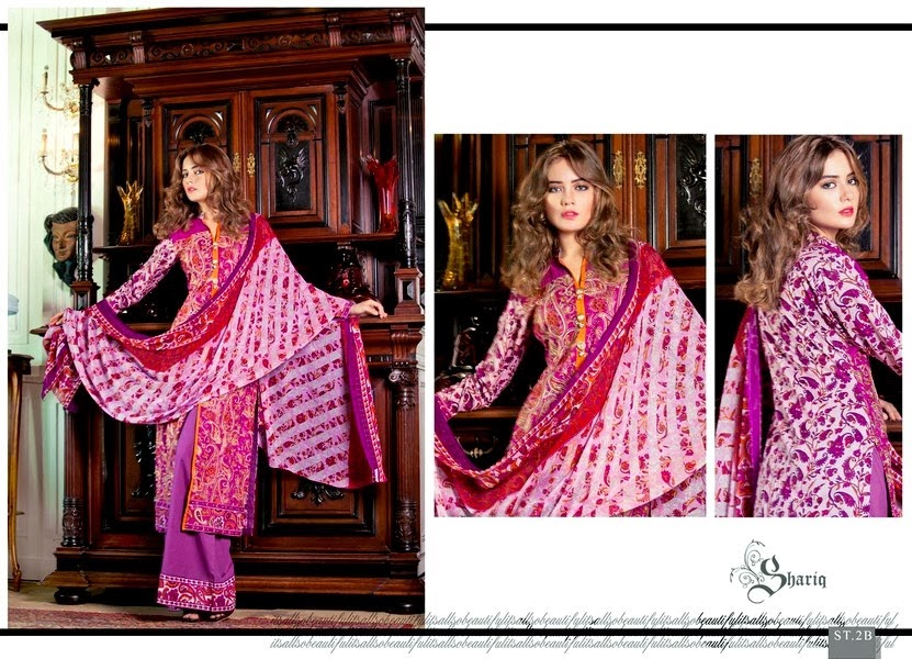 Printed Shariq Lawn Design