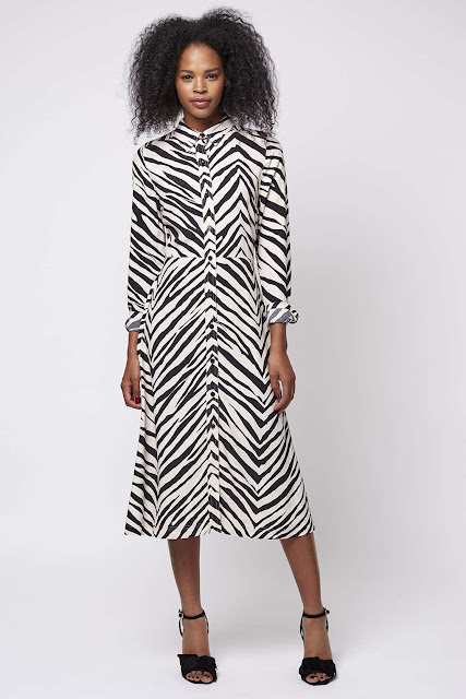 zebra dress, animal shirt dress,