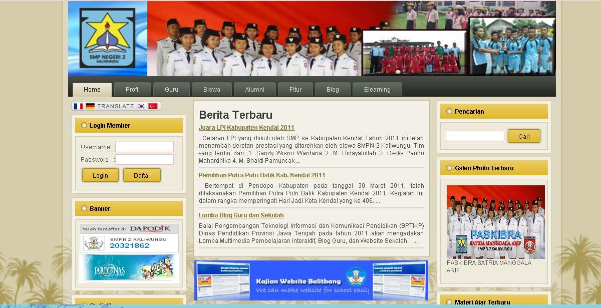 Belajar Multimedia Membuat Web Sekolah Di Server Lokal