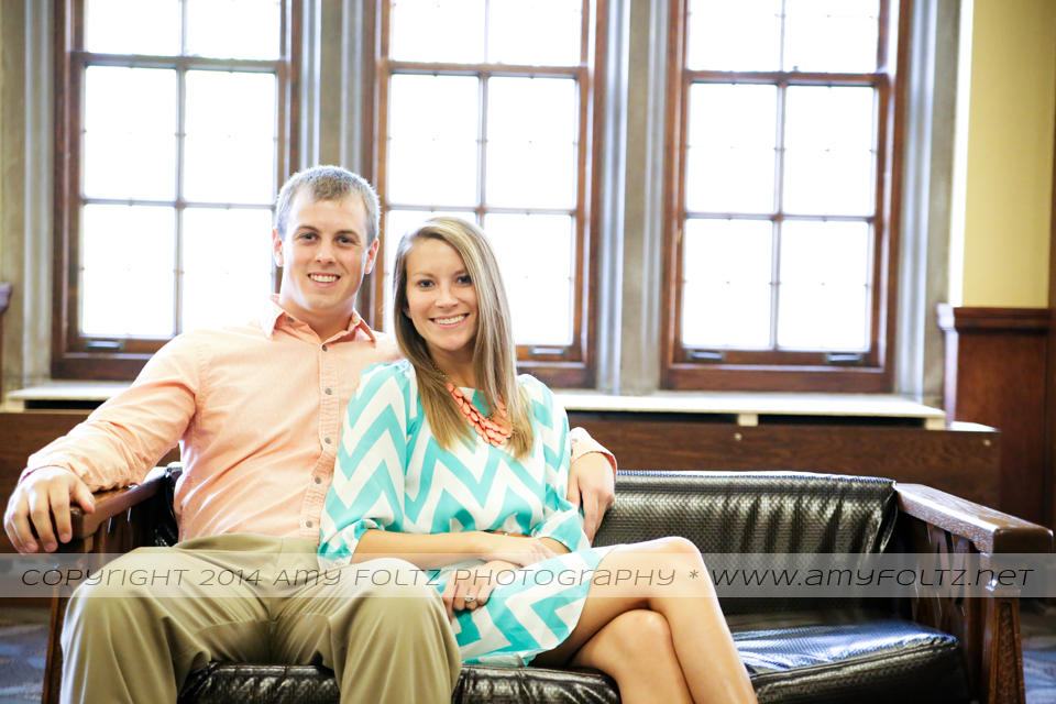 engagement photos at Purdue University Student Union