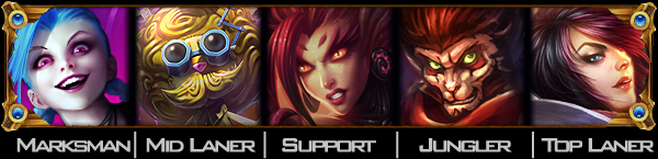 Jinx, Heimerdinger, Zyra, Wukong, Fiora