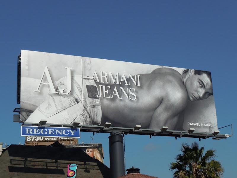 Rafal Nadal Armani Jeans billboard