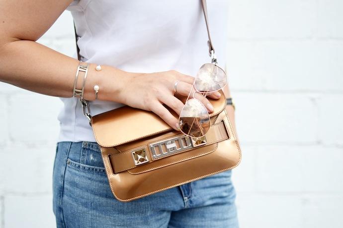 Proenza Schouler PS11 bronze handbag