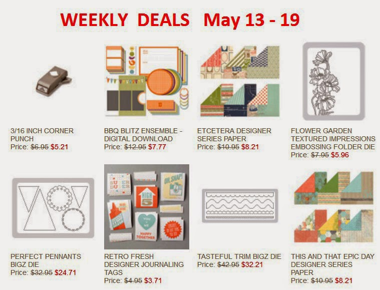 Stampin'UP! Weekly Deals