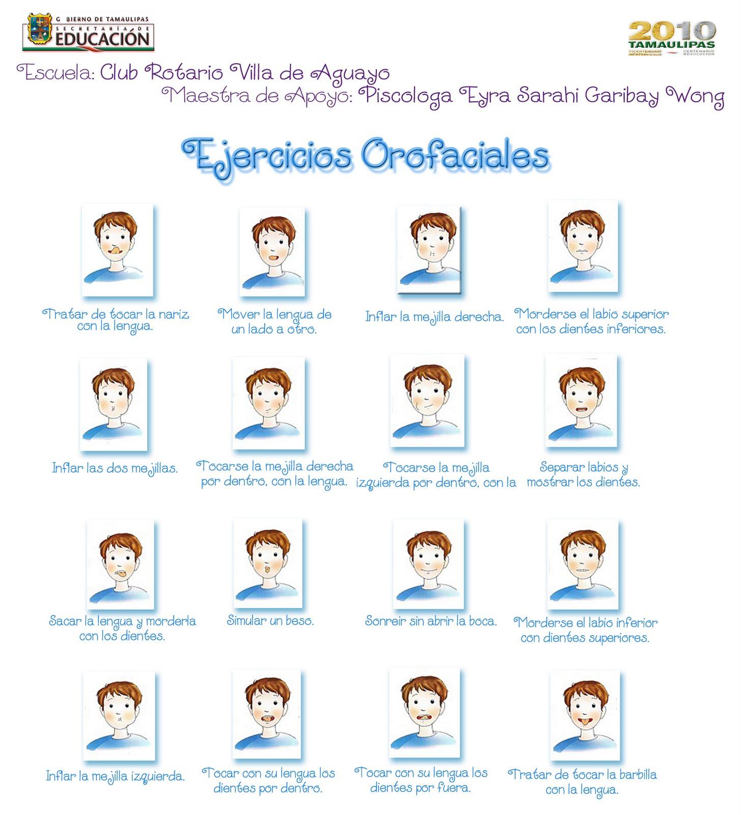 El Lenguaje de los Niños: Ejercicios Orofaciales. Juego de dados.