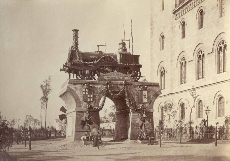 Barcelof lia monument al ferrocarril barcelona matar - Placa universitat barcelona ...