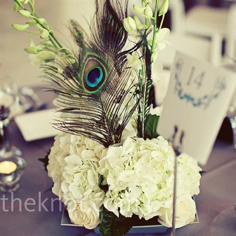 Primp my bride the wedding theme - Peacock arrangements weddings ...