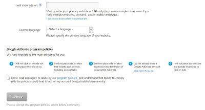 aplikasi permohonan ulang daftar google adsense di blogspot