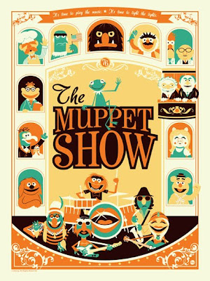 San Diego Comic-Con 2011 Exclusive The Muppet Show Standard Screen Print by Dave Perillo